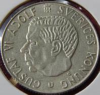 Монета Швеции. 1 крона 1965 год