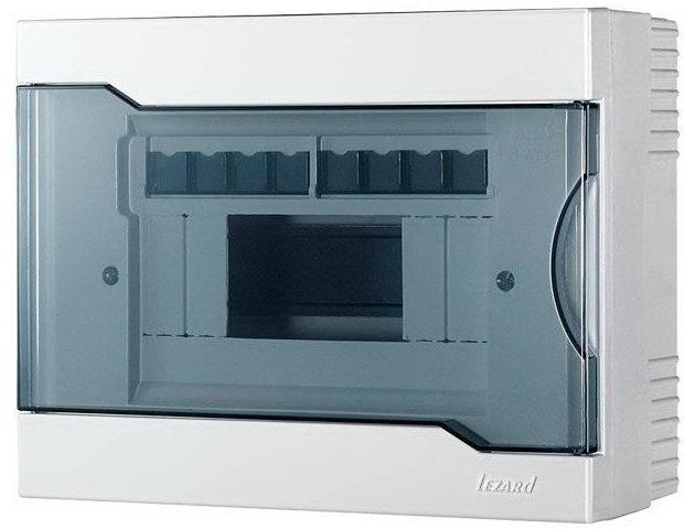 Lezard Бокс с прозрачной крышкой ЩРВ-П-4 для наружной установки 8-ми модульных устройств
