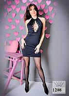 Платье женское на шнуровке короткое 1208 ас