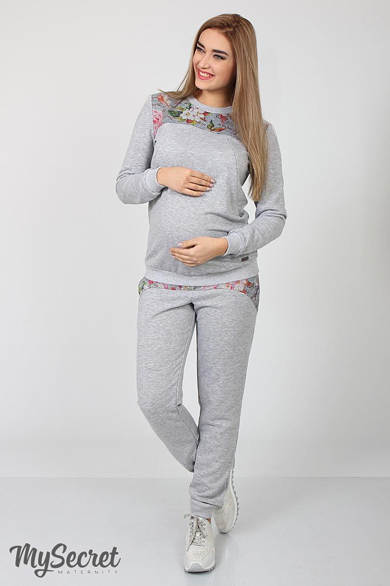 657cba920698 Спортивные брюки для беременных Noks, серый меланж, одежда для беременных  купить не ...