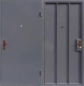 Металлическая входная - техническая  дверь сталь 1мм. замок Арико(с ручкой)