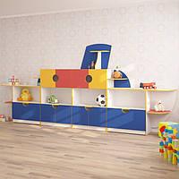 Стінка для дитячого садка КОРАБЛИК (4200*400*1800h)