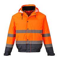 Куртка сигнальная S266 S, оранжевый/темно-синий