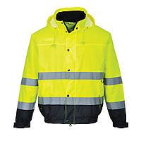 Куртка сигнальная S266 M, желтый/темно-синий