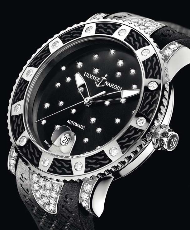 e3a09bc99965e Женские часы Ulysse Nardin Lady Diver кварц (копия): продажа, цена в ...