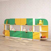 Дитяча стінка для іграшок ЧЕБУРАШКА (3170*400*1250h)