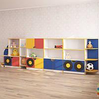 Детская стенка для игрушек МАШИНА (4300*400*1250h)