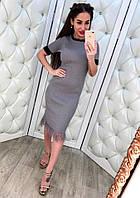 Женское красивое платье с бахромой (3 цвета), фото 1