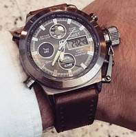 Кварцевые спортивные часы AMST (brown)