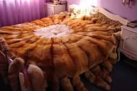 Королевские спальни! Меховое покрывало из лисы с хвостиками, фото 1