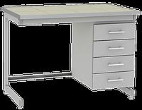 Стол лабораторный пристенный СЛП-3.041.06 1200х750х900мм