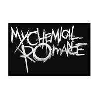 MY CHEMICAL ROMANCE-1 (лого белое) - нашивка с вышивкой