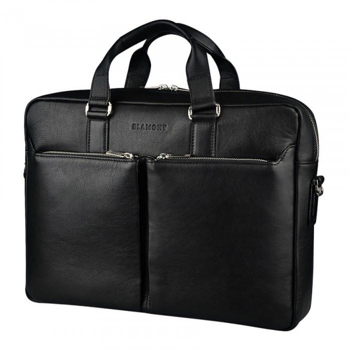 Шкіряна чоловіча сумка-портфель Blamont Bn067A, чорний