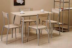 Комплект столовый стол стулья деревянный кухонный обеденный на кухню дуб сонома MODUS 110x72 (Signal)