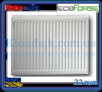 Стальной панельный радиатор 22К 500*1000 ECOFORSE (Украина)