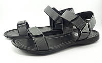 Спортивные сандалии с фактурными деталями серые (Модель 631/2)
