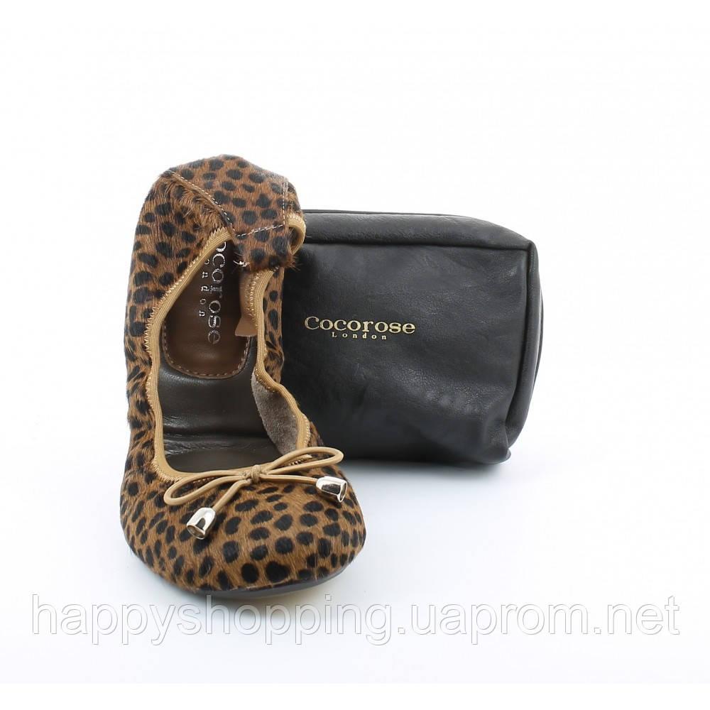 Леопардовые балетки Cocorose London