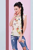 Стильная женская футболка с принтом Classic  Fashion UP 42-46 размеры