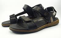 Спортивные сандалии с декоративной строчкой черные (Модель 633/2), фото 1