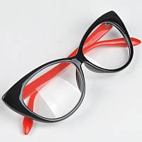 Солнцезащитные женские очки кошачий глаз прозрачные стекла