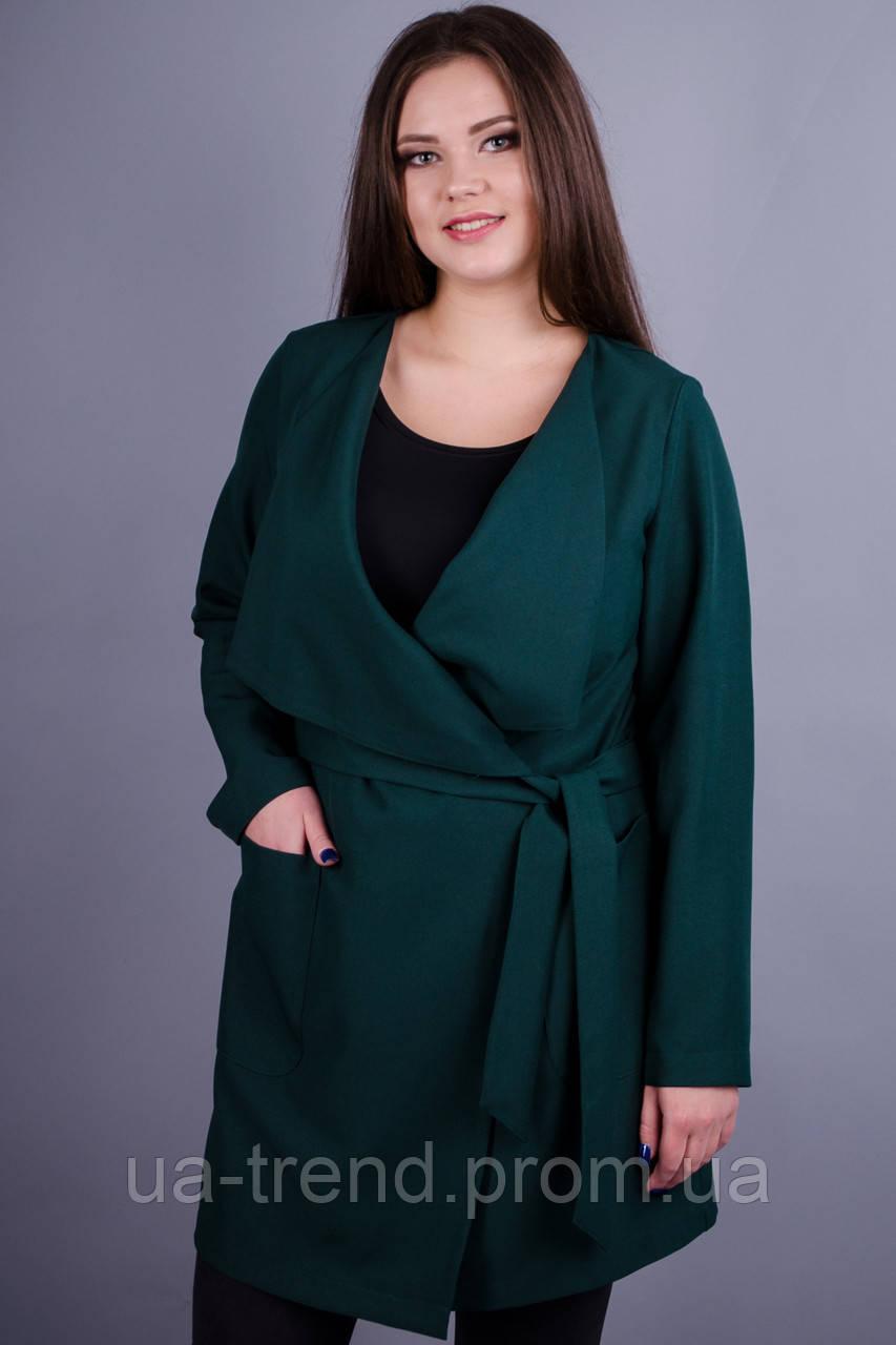 Жіночий кардиган-пальто з поясом