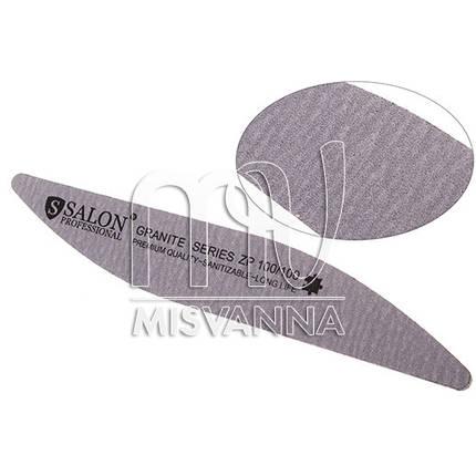 Пилка Salon Professional Granite Series ZP 100/100, волна серая, фото 2