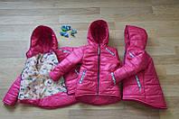 Осенняя куртка для девочки 122-140