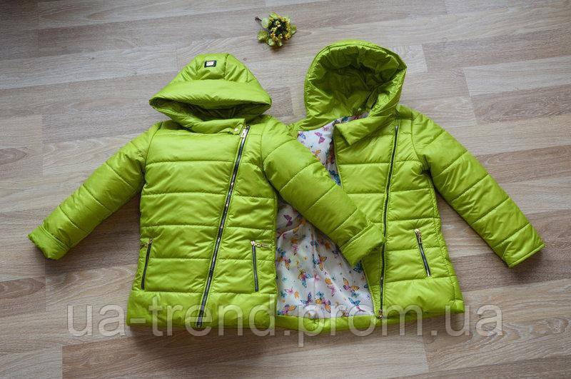 Дитяча курточка дуже-весна з капюшоном 122-140