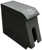 Подлокотник ВАЗ-1118  (мягкий с вышивкой Серый)  ИнтерПласт