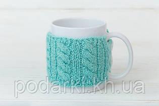 Чашка с манжетой плетение