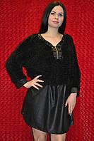 Чёрная женская туника