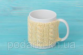 Чашка с манжетой Узорная коса
