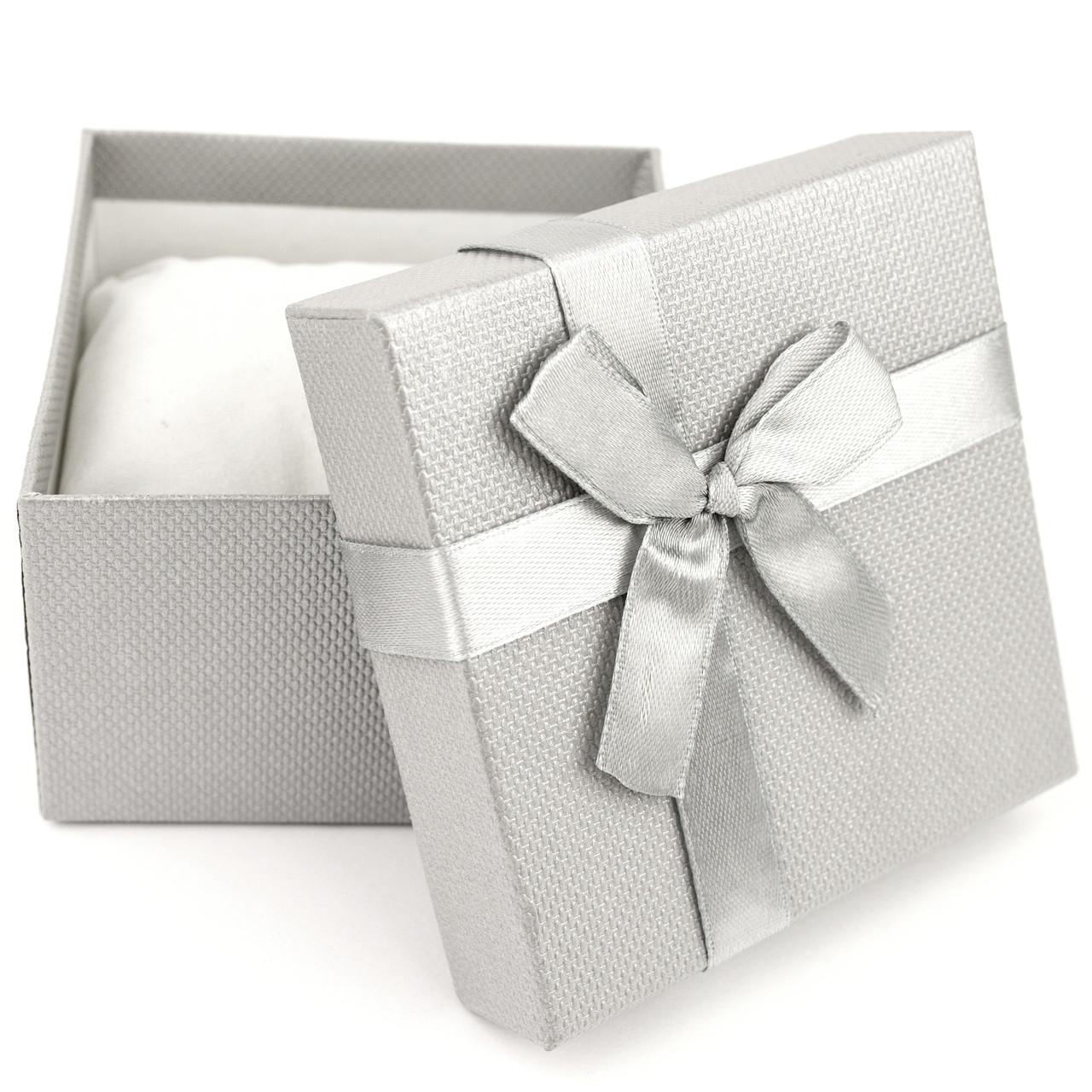 Подарочная коробка для часов или браслета серая 9 x 9 x 6 см