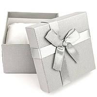 Подарочная коробка для часов или браслета серая 9 x 9 x 6 см, фото 1