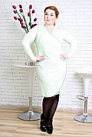 Нарядное платье размер плюс Тюльпан нежная мята (48-54)
