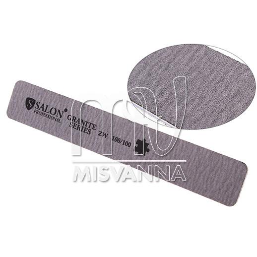 Пилка Salon Professional Granite Series ZW 100/100, прямоугольная серая