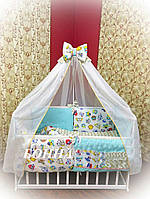 Комплект детского белья Bonna Совы бирюзовый