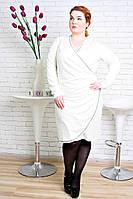 Нарядное платье размер плюс Тюльпан молочный (48-54)