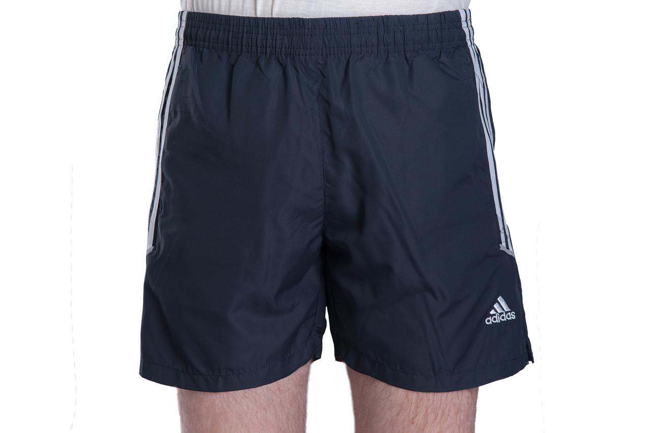 0015487100daf Мужские шорты Adidas (плащевка) синего цвета с белыми полосками.  Хмельницкий - Интернет-