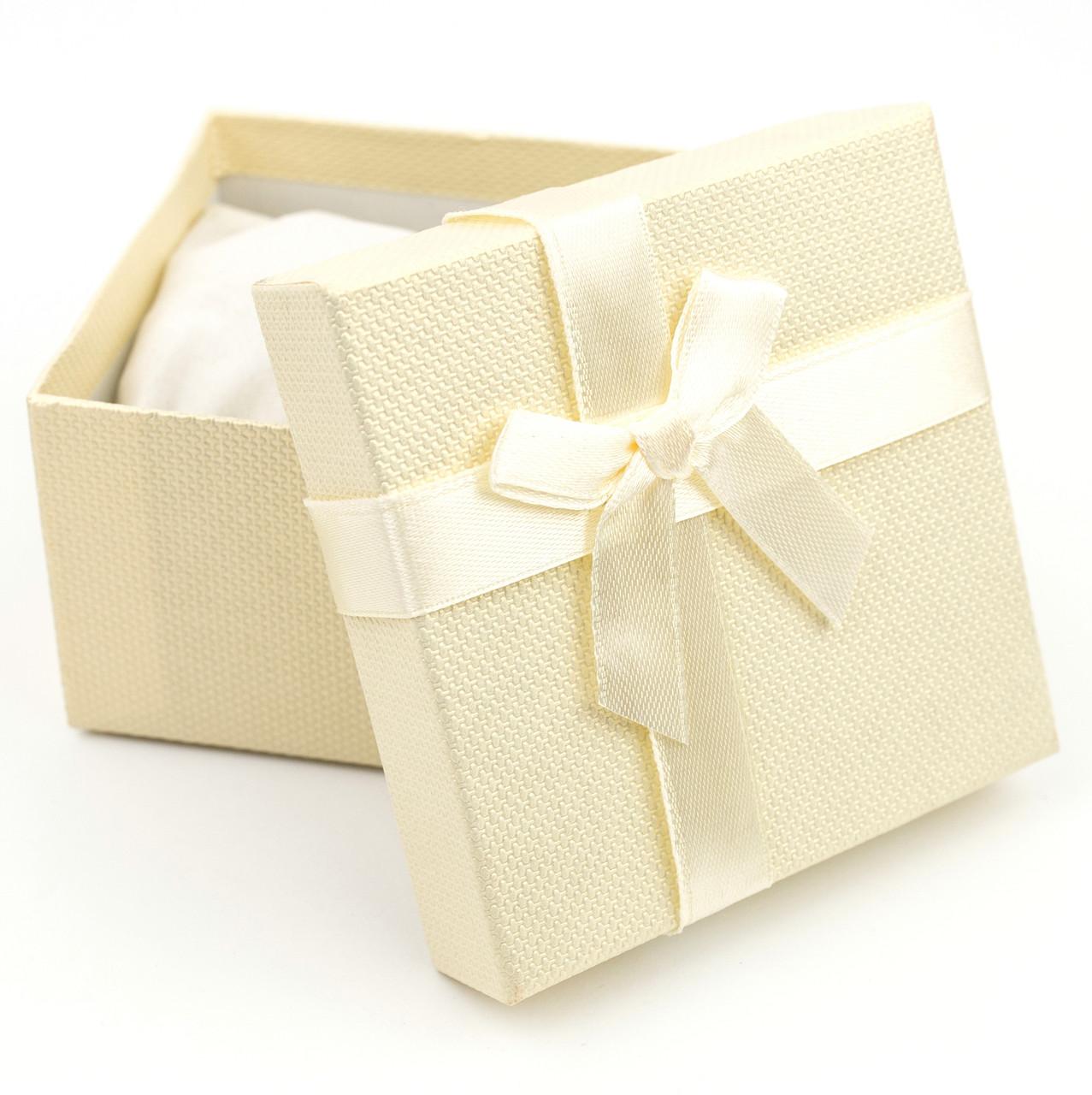 Подарочная коробка для часов или браслета желтая 9 x 9 x 6 см