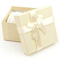 Подарочная коробка для часов или браслета желтая 9 x 9 x 6 см, фото 1