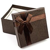 Подарочная коробка для часов или браслета коричневая 9 x 9 x 6 см, фото 1