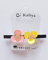 Заколка мини-автомат АВТ-020 Kaliya Цветочки2