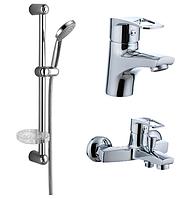 Комплект смеситель для раковины + смеситель для ванны Imprese Lidice 05095 10095
