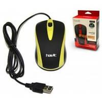 Проводная компьютерная мышь HAVIT HV-MS675 USB yellow