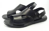 Кожаные сандалии с откидным ремешком-задником (Модель 637/1), фото 1