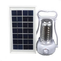 3 в 1 - Фонарь кемпинговый + Power Bank + внешняя солнечная панель (LED 35, регул. яркости, 220V)