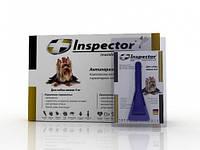 Капли Inspector от 14 внеш. и внутр. паразитов для собак до 4 кг