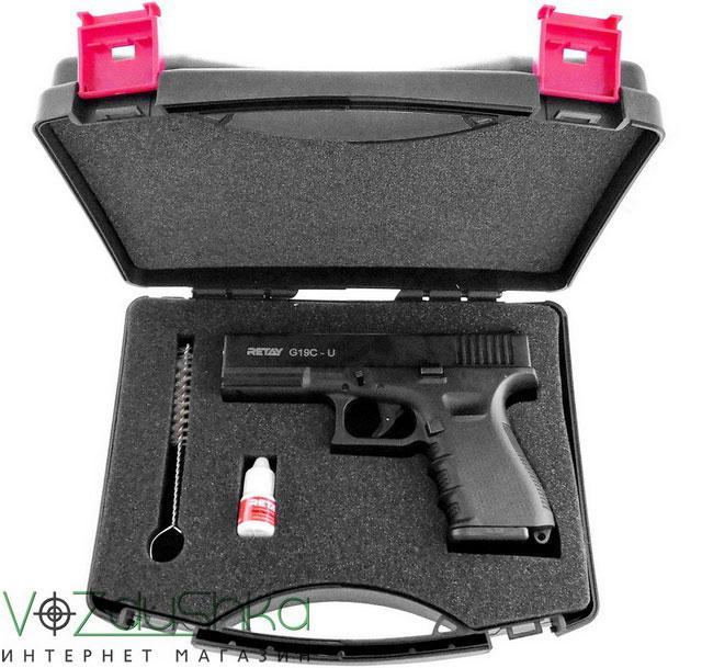 Комплектация стартового пистолета Retay G19C black