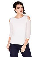Колет блузка белая открытые плечи
